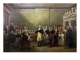 George Washington Resigning His Commission Print by John Trumbull