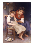 Sulking Posters by William Adolphe Bouguereau