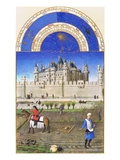 Le Tres Riches Heures Du Duc De Berry - October Posters by Paul Herman & Jean Limbourg