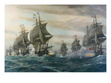 Battle of Virginia Capes Prints by V. Zveg