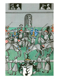 Medieval Tournament Melee and Jousting Poster by Ludwig Van Eyb