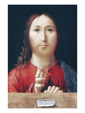 Christ Blessing Prints by Antonello da Messina