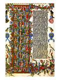 Genesis Initial Letter; Wenceslas Bible Poster