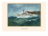 "H.M. Armored Cruiser ""Prince Bismarck"" Prints by G. Arnold"