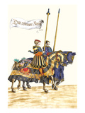 German Knights in Horseback in Procession Poster by H. Burkmair