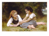 Hazelnuts Prints by William Adolphe Bouguereau