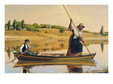 Eel Spearing at Setauket Poster von William Sidney Mount