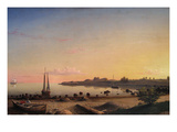 Stage Fort across Gloucester Harbor Premium Giclee Print by Fitz Henry Lane