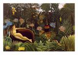 De droom Poster van Henri Rousseau