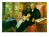 James Wyatt and His Granddaughter Premium Giclee Print by John Everett Millais