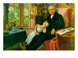 James Wyatt y su nieta Lámina giclée prémium por John Everett Millais