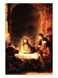 Christ in Emmaus Posters by  Rembrandt van Rijn