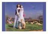 Pretty Baa Lambs Poster par Ford Madox Brown