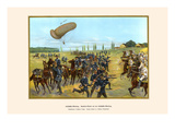 Balloon Reconnaissance Troops - Cavalry Attack on a Balloon Detachment Prints by G. Arnold