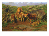 Weaning the Calves Posters by Rosa Bonheur
