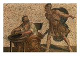 Death of Archimedes Mosaic Prints