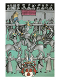 Medieval Tournament Melee and Jousting Print by Ludwig Van Eyb