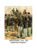 Indian Wars - 1872 - 1881 - a Gathering of Sergeants Posters by Henry Alexander Ogden