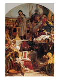 Chaucer at the Court of Edward III Poster by Ford Madox Brown