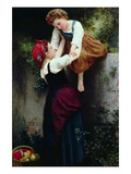 Young Gypsies Prints by William Adolphe Bouguereau
