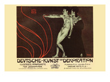 German Art Decoration Magazine by Subscription Posters by Alphonse Mucha