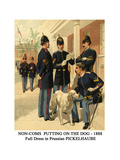 Non-Coms Putting on the Dog - 1888 - Full Dress in Prussian Pickelhaube Prints by Henry Alexander Ogden