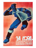 """La Hora"" the Hour - Youth Newspaper Poster by  United Socialist Youth"