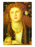 Bocca Baciata; the Kissed Mouth Prints by Dante Gabriel Rossetti