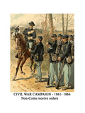 Civil War Campaign - 1861- 1866 - Non-Coms Receive Orders Print by Henry Alexander Ogden