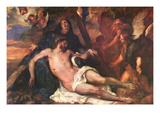 Weeping Christ Kunstdruck von Anthony Van Dyck