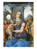Madonna and Child with Saint Joseph and an Angel Posters af Raffaellino Del Garbo