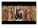 Madonna and Child Enthroned with Saints, Altarpiece Prints by Taddeo Gaddi