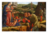 The Adoration of the Shepherds, Shortly after 1450 Posters by Andrea Mantegna