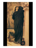 Electra at the Tomb of Agamemnon Poster by Frederick Leighton