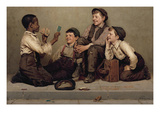The Card Trick Print by John George Brown