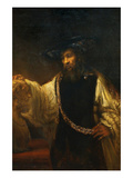 Aristotle with a Bust of Homer Plakater af Rembrandt van Rijn