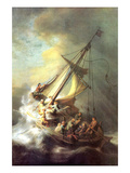 Christ in the Storm on the Lake of Galilea Posters af  Rembrandt van Rijn