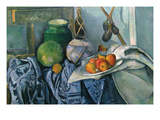 Still Life with Ginger Jar and Egg Plants Posters by Paul Cézanne