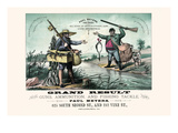 Grand Result Buying Guns, Ammunition, and Fishing Tackle Print by W.R. Hallowell