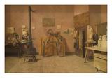 Sculptor's Studio Print by Louis Charles Moeller