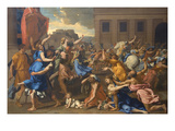 Abduction of the Sabine Women Print by Nicolas Poussin