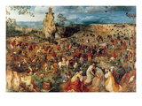 Procession to Cavalry - Complete Posters by Pieter Breughel the Elder