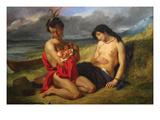 Natchez Póster por Eugene Delacroix