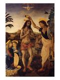 Taufe Christi Poster von Andrea del Verrocchio
