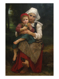 Breton Brother and Sister Print by William Adolphe Bouguereau