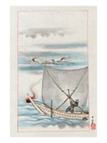Fishing with the Sail Net Prints by Settei Hasegawa
