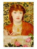 Regina Cordium; Queen of Hearts Poster by Dante Gabriel Rossetti
