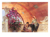 Unconscious Rivals Print by Sir Lawrence Alma-Tadema