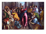 Christ Drives the Dealers from the Temple Print by  El Greco