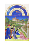 Le Tres Riches Heures Du Duc De Berry - April Prints by Paul Herman & Jean Limbourg